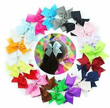 20pcs 5 Inches Big Hair Bow Clips for Baby Girl Teenager,Grosgrain Ribbon Bows