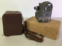 Vintage Cinemaster II 2 Model G-8 Cine Camera 8mm With Case For Display Decor