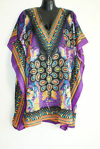 Indian Tunic Tops Summer Viscose Kimono Style Kaftans Beach Party Dress Sarongs