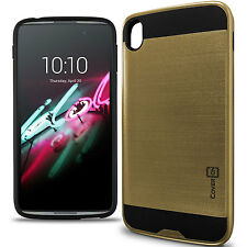 "for ALCATEL One Touch Idol 3 (5.5"") Case - Gold / Black Slim Rugged Hybrid Cover"