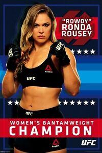 RONDA ROUSEY UFC CHAMPION ENTOURAGE BRAND NEW 24x36 POSTER WWE GIFT WOMEN FIGHT!