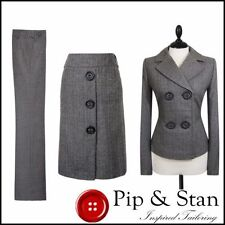 Trousers Women's Skirt Suits with 2 Pieces