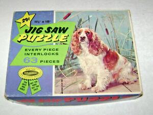 Vintage Cocker Spaniel Whitman Jigsaw Picture Puzzle 11 1/2 x 15
