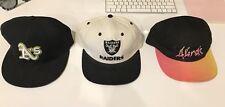 Bulk X3 Hats 5 Panel, Flat Cap, Afends, Oakland A's, Raiders