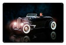 1932 Ford Rebel Rouser Deuce Hot Rod US Muscle Car Retro Sign Blechschild Schild