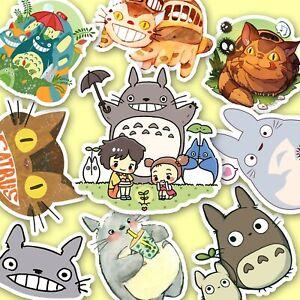 Totoro Stickers, Ghibli Stickers, Large Size, Anime Stickers, Miyazaki [12 pc]