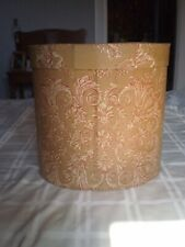Large Jeanette McVay Wallpaper Decorated Handmade/Stitched Cardboard Bandbox