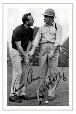 ARNOLD PALMER & BOB HOPE GOLF SIGNED AUTOGRAPH PHOTO PRINT