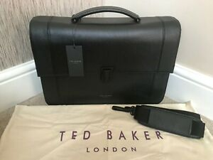 TED BAKER BOVINE LEATHER AGGRO MESSENGER BAG BRIEFCASE RETAIL BNWT