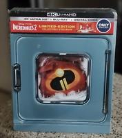 Disney Pixar The Incredibles 2 Steelbook 4K Ultra HD Bluray Digital SEALED NEW