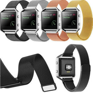 Milanese Loop Stainless Steel Watch Band Strap Magnetic Clasp For Fitbit Blaze