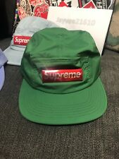 955919cdfc4 Supreme Liquid Metal 5 panel Box Logo Camp cap hat Green w bogo sticker And