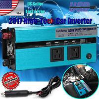 12V DC - AC 110V Car Auto Power Inverter Converter Adapter Adaptor 1500/3000WATT