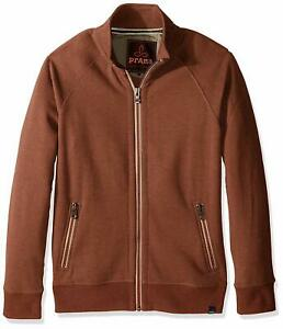 New Prana Lifestyle Full Zip Mock Men's Medium Auburn