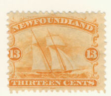 Newfoundland Stamp Scott # 30 13-Cents Ship MH
