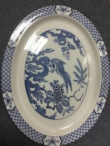 """Woods & Sons YUAN Pattern Large Oval Platter 16.25"""""""