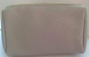 BareMinerals Glittery Gold Makeup Cosmetics Bag (brand new)