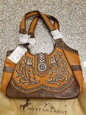 Montana West Tan Leather With Design