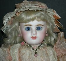 "ETIENNE DENAMUR - 15"" - BLUE EYES & CLOSED MOUTH - FRENCH ANTIQUE - PINK!!"