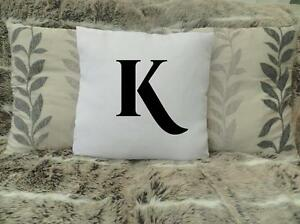 """PERSONALISED CUSHION COVER 16""""x16""""  INITiAL VALENTINE WEDDING GIFT BIRTHDAY"""
