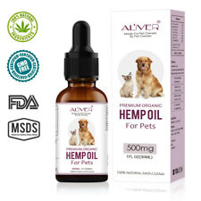 Premium Organic 100% Natural Hemp Seed Oil For Dogs Cats Rabbits Pets 30ml