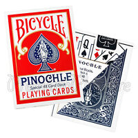 2 Decks Bicycle PINOCHLE playing cards Standard index 48cards Poker Magic tricks