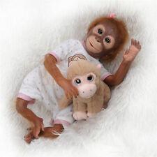 "21"" Life Like Reborn Monkey Doll Baby Ape Female Fuzzy Monkey Dolls Realistic"