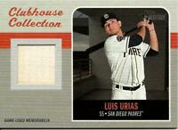 2019 Topps Heritage High Number LUIS URIAS Clubhouse Relic Bat Padres
