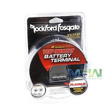 *NEW* ROCKFORD FOSGATE RFDB4 POSITIVE/NEGATIVE CAR BATTERY TERMINAL POST 4-AWG