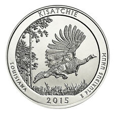2015 5 oz  Silver Kisatchie National Forest Coin (Bullion) In Capsule