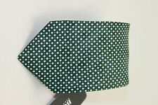 Hugo Boss black label men's Green tie White dots 7.5cm $95