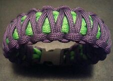 Handcrafted paracord bracelet. King cobra style.