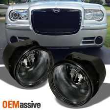 Fits 2005-2010 Chrysler 300 300C 08-09 Caliber SRT-8 Smoked Fog Lights w/Bulb