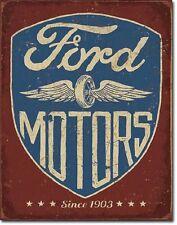 Ford Motors Since 1903 TIN SIGN Vintage Garage Shop Wall Decor Metal Poster