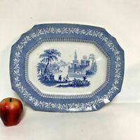 Antique 19th Century English Staffordshire Blue Transferware Platter