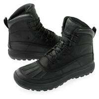 Nike ACG Woodside II 2 Triple Black Waterproof Leather Boots New Mens Authentic