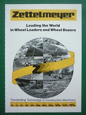 4/1987 PUB ZETTELMEYER MILITARY WHEEL LOADERS WHEEL DOZER ORIGINAL AD