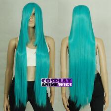 100cm Miku Green Heat Styleable long Cosplay Wigs  85_5126