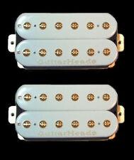 Guitar Parts GUITARHEADS PICKUPS GOLD RUSH HUMBUCKER - Bridge Neck SET 2 - WHITE