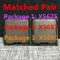 Matching pair Intel Xeon X5675 X5687 X5680 X5690 CPU LGA1366 Processors