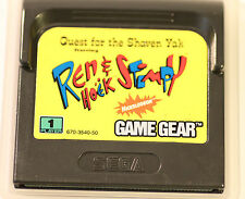 SEGA GAME GEAR  GAMEGEAR  Ren And Stimpy, Quest For The Shaven Yak  (GAME ONLY )