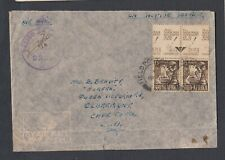 SOUTH AFRICA 1940s WWII CENSORED AIRMAIL COVER FIELD POST OFFICE TO CAPETOWN