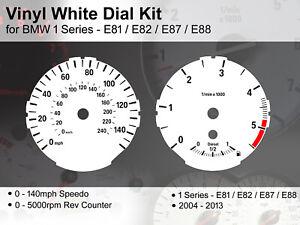 BMW 1 Series E81/E82/E87/E88 (2004 - 2013) - 140mph Diesel- Vinyl White Dial Kit