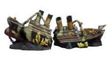 Aquarium Fish Tank Ornament 56CM 2 PART RMS TITANIC shipwreck ruin boat wreck