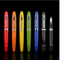 Jinhao 159 Smooth Metal Clip Fountain Pen Medium Fine Nib 0.5mm Writing Gift New