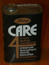Vintage FIEBING'S CARE 4 Leather Conditioner 32 FL. OZ. (1 QT.) Empty Tin Can
