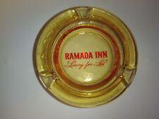 Ramada Inn Luxury For Less Ashtray Hotel Advertising Amber Vtg