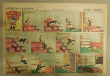 Donald Duck Sunday Page by Walt Disney from 4/18/1943 Half Page Size