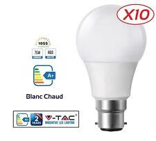 Pack 10 Ampoules LED B22 Baïonnette 12W (eq. 75 watt) Blanc Chaud marque V-TAC