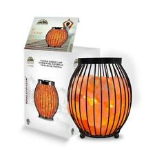 Himalayan Glow 8.3 in. Ionic Crystal Natural Salt Oval Basket Lamp